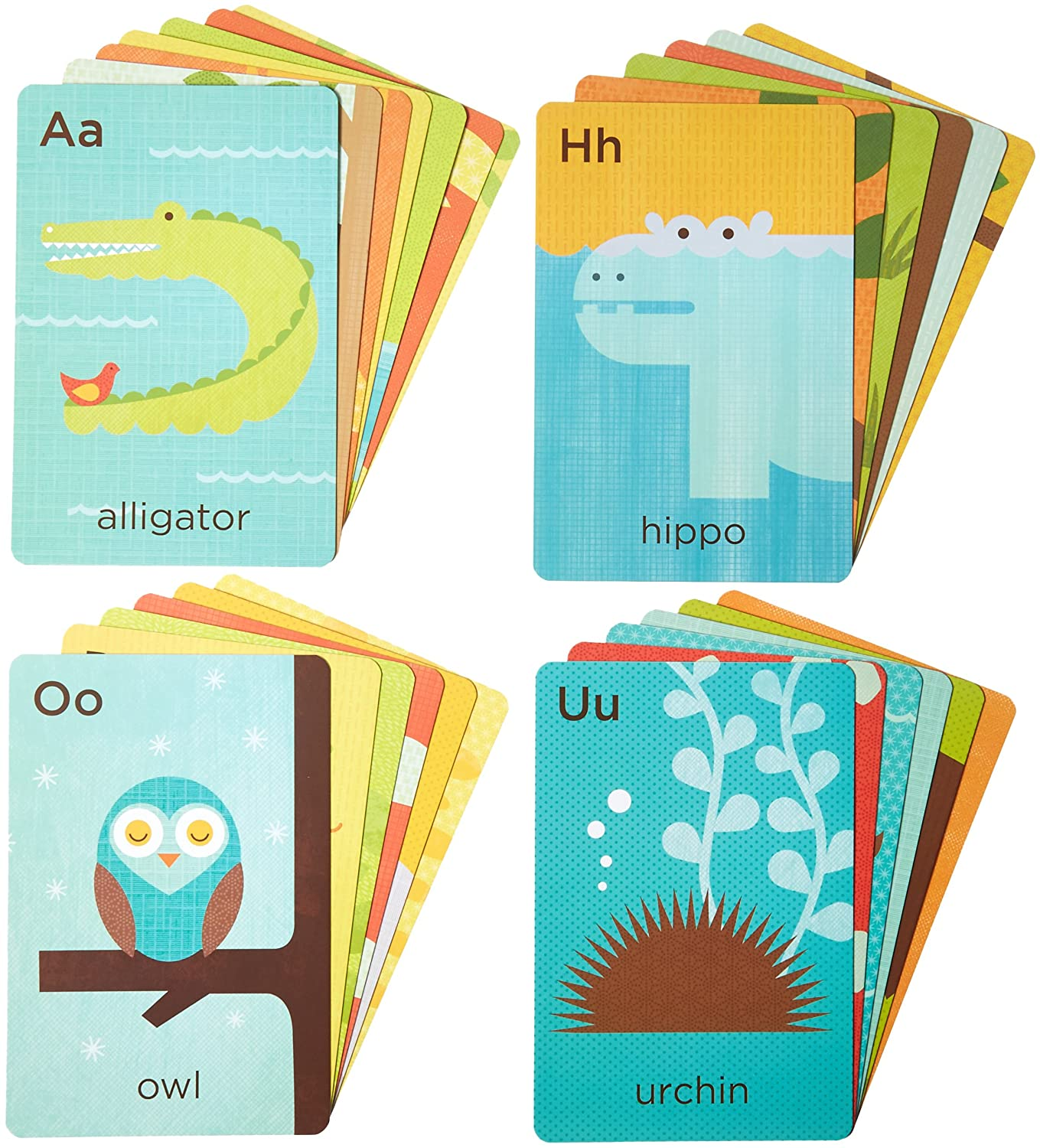 26 cards Petit Collage Alphabet A-Z On the Go A-Z Flash Cards