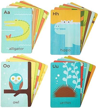 amazon com petit collage alphabet a z animals flash cards 26