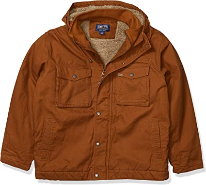 Smiths Workwear Mens Sherpa Lined Duck Canvas Vest