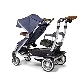 Austlen Baby Co Entourage Sit Stand Double Stroller In Navy Also Available In Black