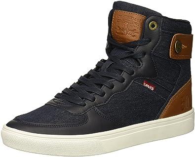 7a193e28 Amazon.com | Levis Men's Jeffrey Hi 501 Core Sneaker, Navy, 9 M US ...