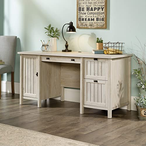 Sauder Costa Computer Desk, Chalked Chestnut finish