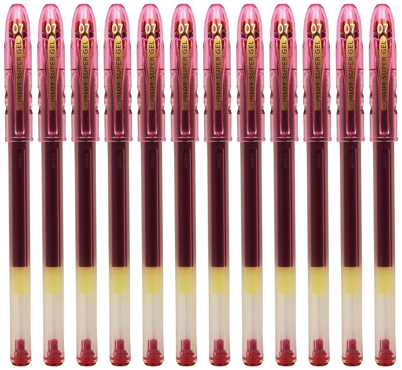 Pilot 570318 Penna a Sfera, Gel, Punta 0.7 mm, Tratto 0.4 mm, 12 pezzi, colore: Nero [Importato da Regno Unito]