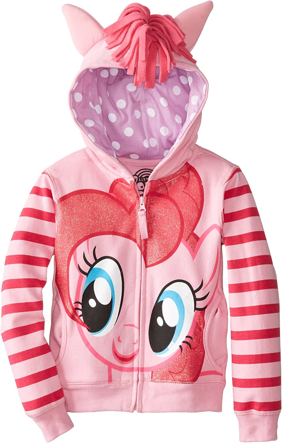 Baby Girls My Little Pony Wings Zip Up Hoodie Jackets Sweatshirt Winter Coat Top