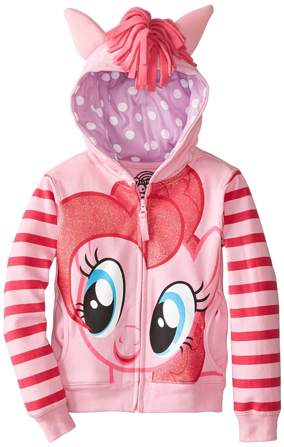 My Little Pony Girls' Pinky Pie Hoodie and Hoodie/Tee Bundle