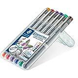 ステッドラー 水性ペン ピグメントライナー 線書ペン 0.3mm 6色 30803-SSB6