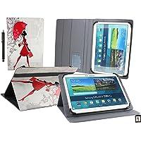 Emartbuy Mediacom SmartPad MX 10 HD Lite Tablet PC 10.1 Pollice Universale (10-11 Pollice) Elegante Signora Angolo Multi Esecutivo Portafoglio Custodia Case Cover con Scomparti per Carte + Stilo