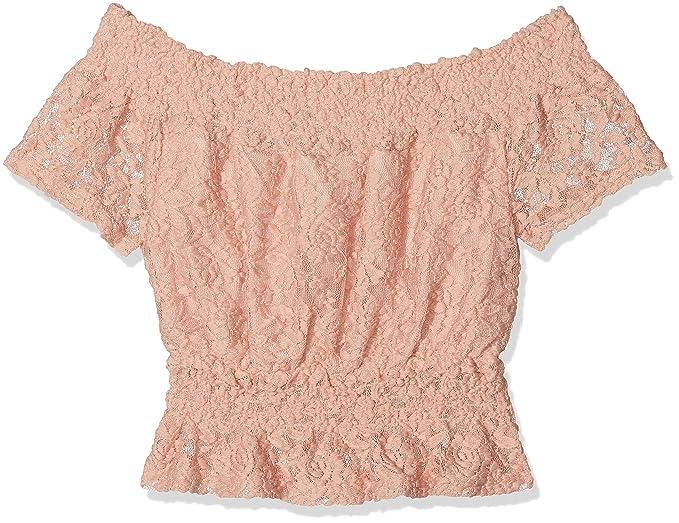 New Look Flounce Lace, Blusa para Niñas, Rosa (Nude 72), 12