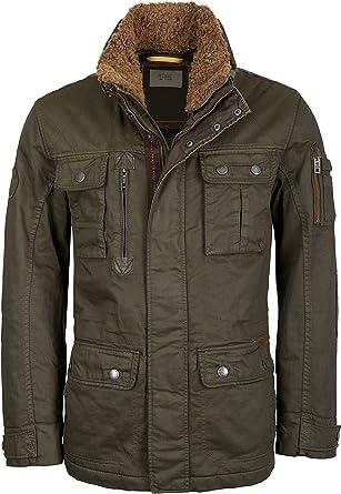 camel active Men's 4853 Jacket, Green (Dark Olive 36), 11: Amazon.co.uk:  Clothing
