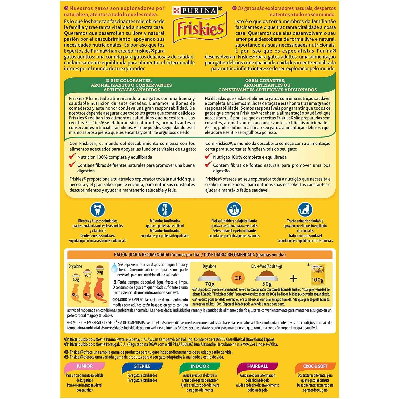 Purina - Friskies Pienso para Gato Adulto Atún y Verduras - Pack de 20 x 400 g - Total 8000 g: Amazon.es: Productos para mascotas