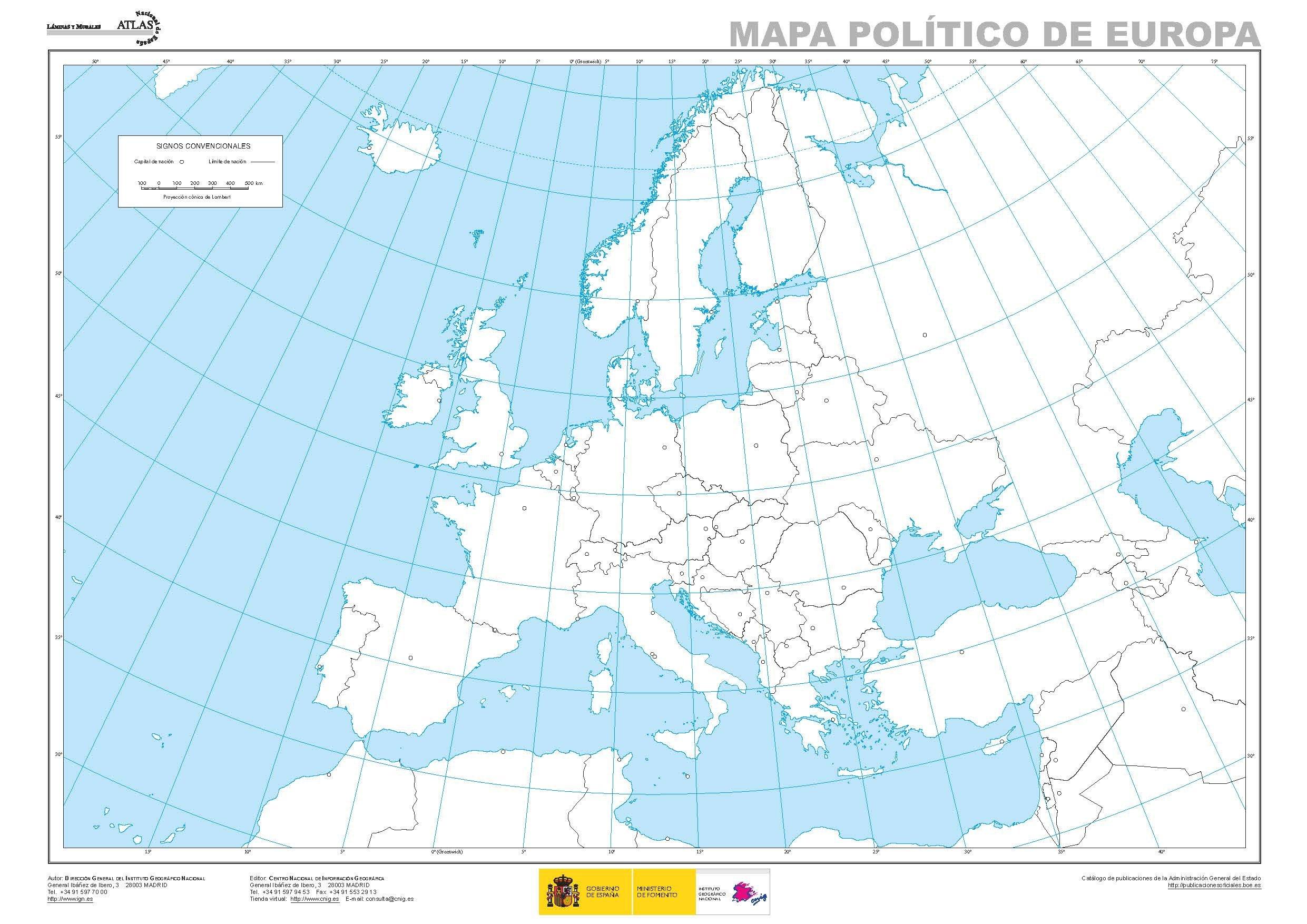 El mundo Europa y Espaa fsicos y polticos A3 12 mapas mudos