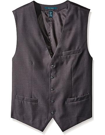 a987a561b9 Perry Ellis Men's Big-Tall Solid Suit Vest