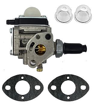 hooai carburador Carb & bombilla de juntas para Kawasaki cortacésped bushcutter TH43 TH48 Motor US directa