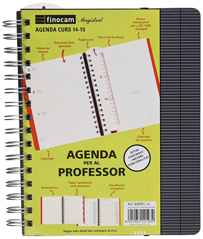 Amazon.com : FINOCAM School Spiral Agenda for Teachers ...