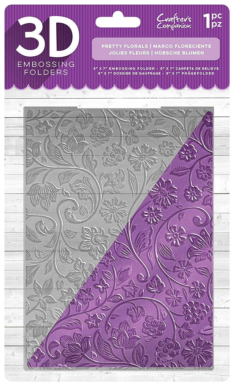 Diesire EF5-3D-PFLO 3D Embossing Folder Clear