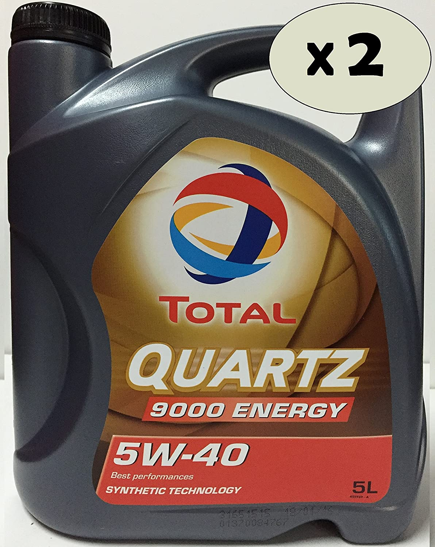 Total Quartz Energy 9000 5W-40 Aceite para Motor, 2 x 5 litros (10 litros): Amazon.es: Coche y moto