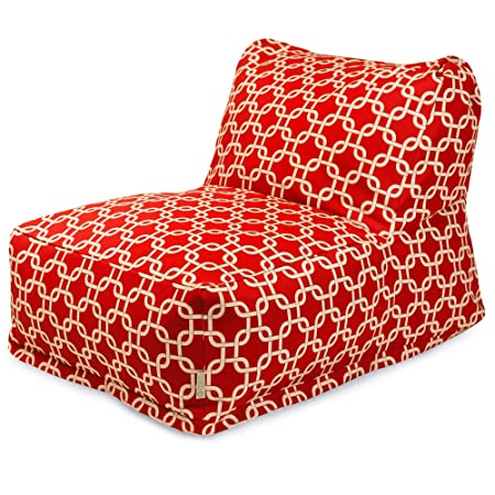 Majestic Home Goods Red Links Bean Bag Chair Lounger