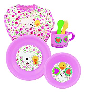 itsImagical- Vajilla Infantil para microondas de Color Rosa ...