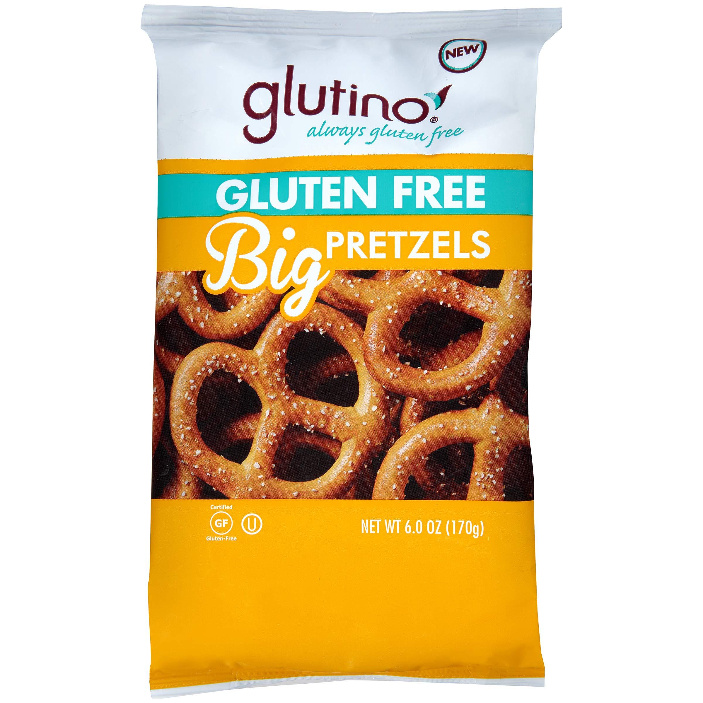 Glutino Gluten Free Pretzels, Big Pretzels, Delicious Everyday Snack, Lightly Salted, 6 Ounce