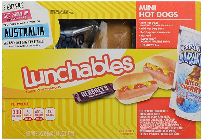 Oscar Mayer Lunchables Hot Dogs Mini With Capri Sun Roarin Waters 9 3 Oz Amazon Com Grocery Gourmet Food