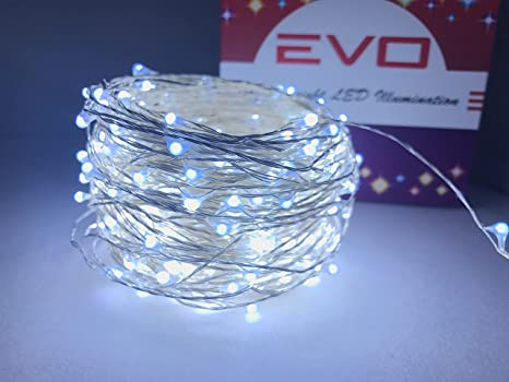 copper wire leds extreme white led firefly string lights 100ft extra long waterproof fairy lights