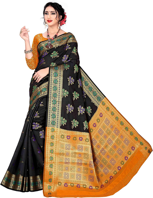 New Beautiful Designer Readymade Stitched Embroidered Saree Blouse Art Silk Fabric Craft Indian Sari Choli Tunic Top Women Wedding Gift Wear
