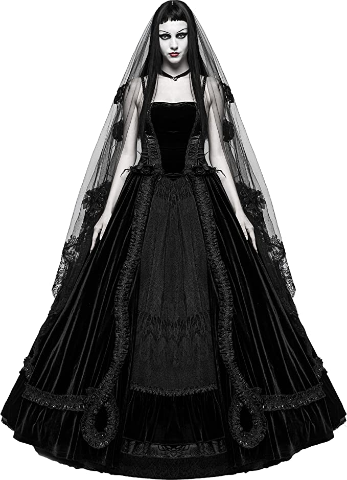 Black Romantic Gothic Victorian Ball Gown