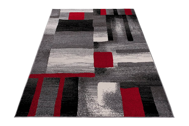 Carpeto Modern Teppich Rot 300 x 400 400 400 cm Abstrakt Muster Tokio Kollektion 75fba5