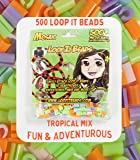 Friendly Bands Loop It Beads 500/Pkg-Psychedellic