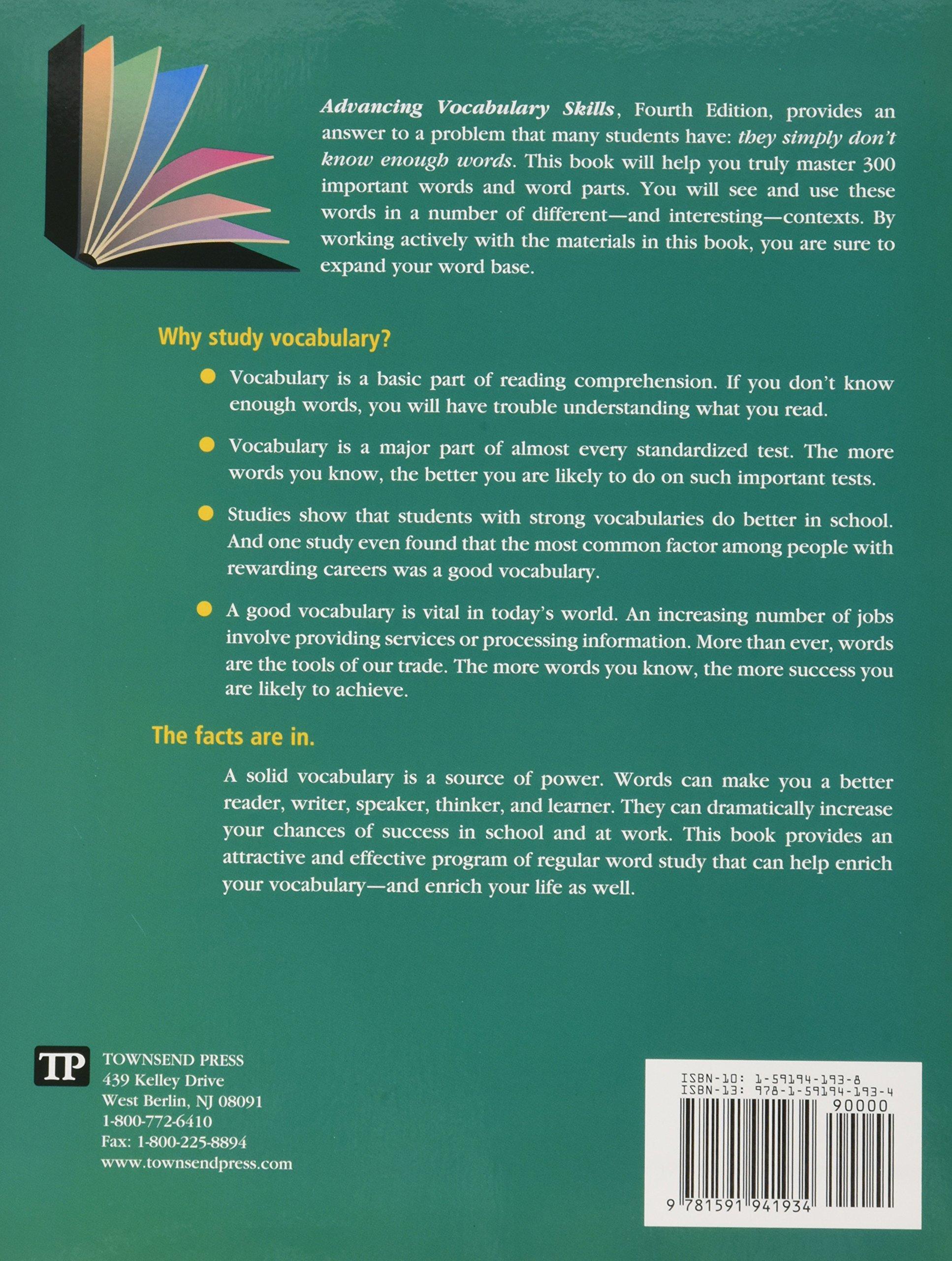 advancing vocabulary skills vocabulary plus subscription advancing vocabulary skills vocabulary plus subscription sherrie l nist 9781591944539 com books