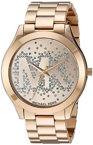 Michael Kors Reloj Analógico para Mujer de Cuarzo con Correa en Acero Inoxidable MK3590: Amazon.es: Relojes