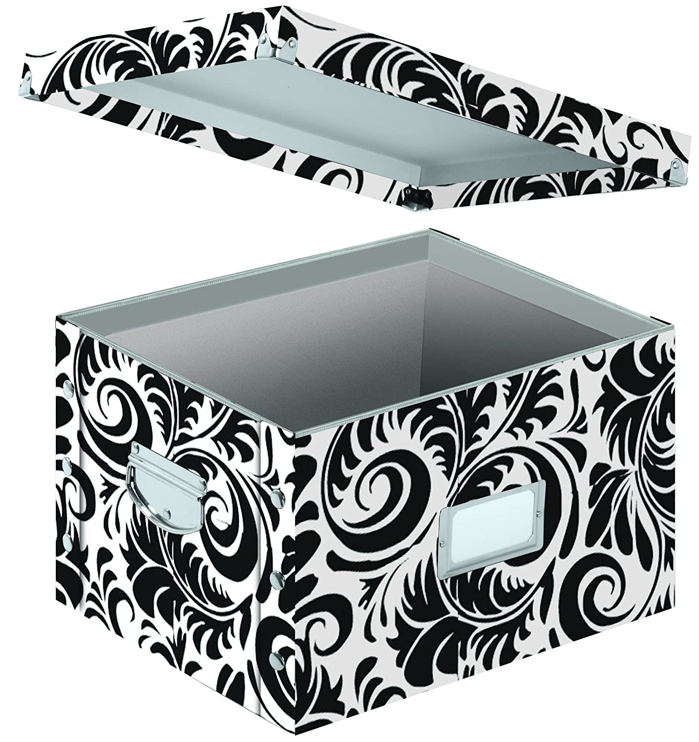 damask office accessories. letter and legal file box interior dimensions 95 x 1475 1225 inches black white scroll design sns01835 filing crates office products damask accessories