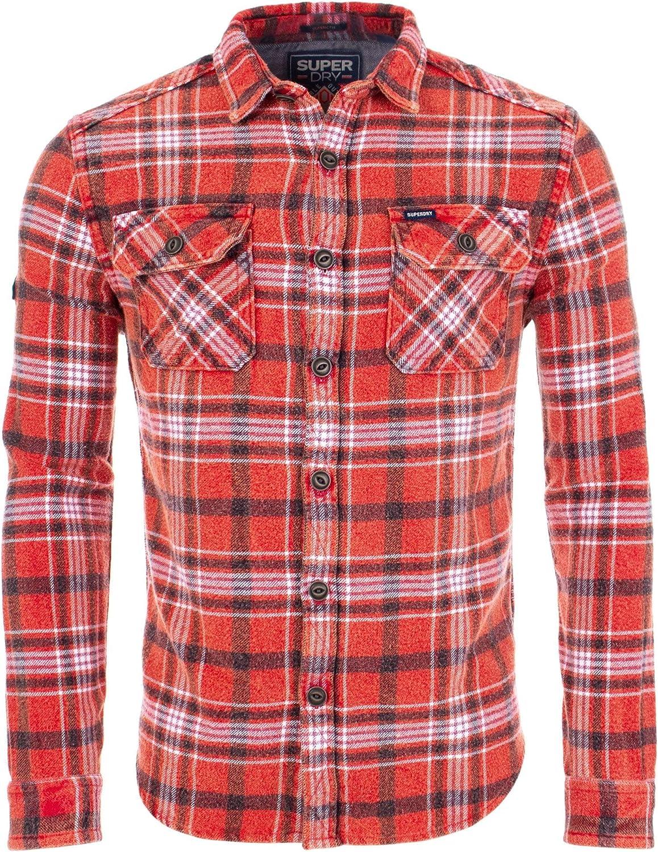 Superdry Camisa Merchant Milled Storm Red Check Rojo M: Amazon.es: Ropa y accesorios
