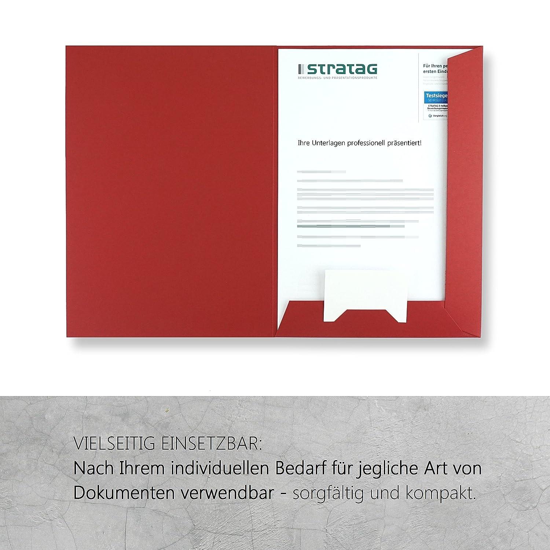 Präsentationsmappe A4 in rubinrot // erhältlich in 7 Farben // direkt vom  Hersteller STRATAG // vielseitig einsetzbar für Ihre Angebote, Exposés, ...
