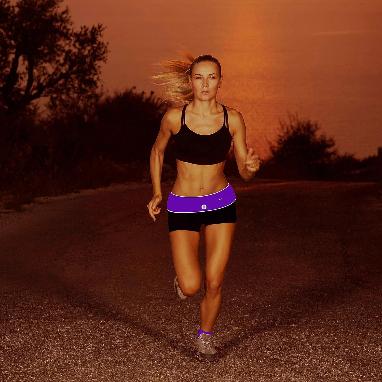 FitFeelsFun Ceinture de Sport Femme Homme Poche /à Fermeture /éclair pour T/él/éphone Portable Running Belt Sac Banane Course /à Pied