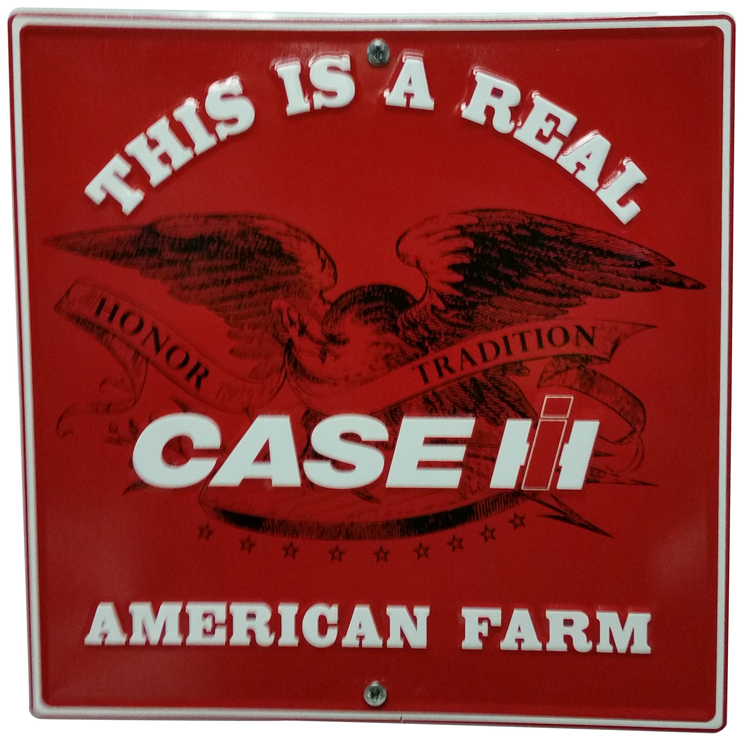 S&D Case IH American Farm Metal Sign, 12 by 12''