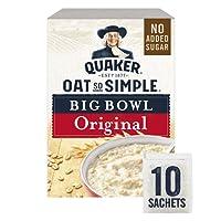Quaker Oat So Simple Big Bowl Original Porridge Sachets, 10 x 38.5 g