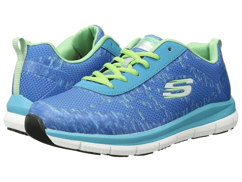 (スケッチャーズ) SKECHERS レディースワークシューズナースシューズ靴 Comfort Flex SR HC [並行輸入品] B07FRZTPT5 6 (23cm) D Wide|ブラック/ホワイト ブラック/ホワイト 6 (23cm) D Wide