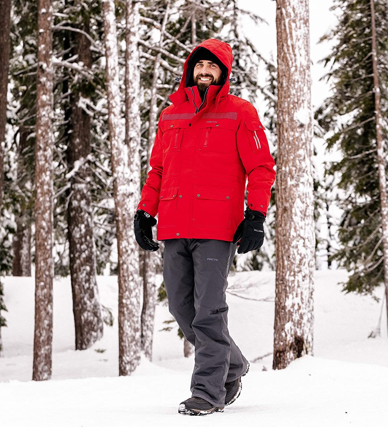 Arctix Mens Performance Tundra Jacket with Added Visibility Athletic-Insulated