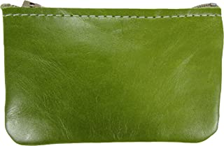product image for North Star Men's Leather Zippered Coin Pouch Change Holder (4 X 2.5 X 0.25 Inches, Distressed Lime)