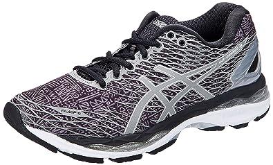 ASICS Women's Gel-Nimbus 18 Lite-Show Black, Silver and Shark Running Shoes