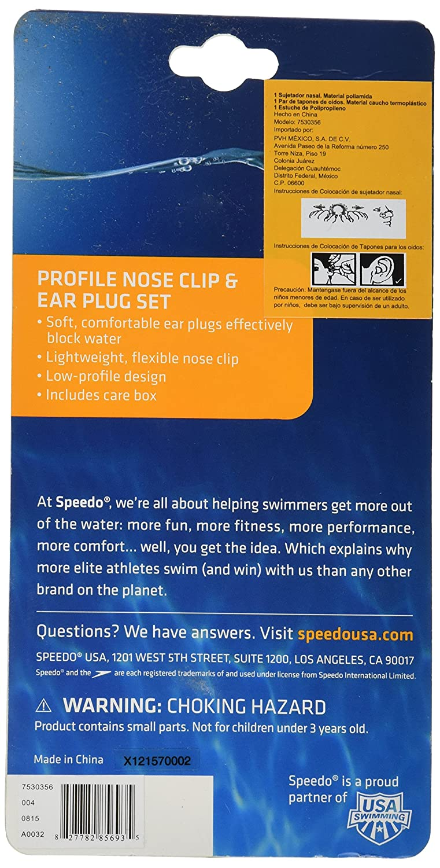 Speedo Profile Nose Clip//Ear Plug Set