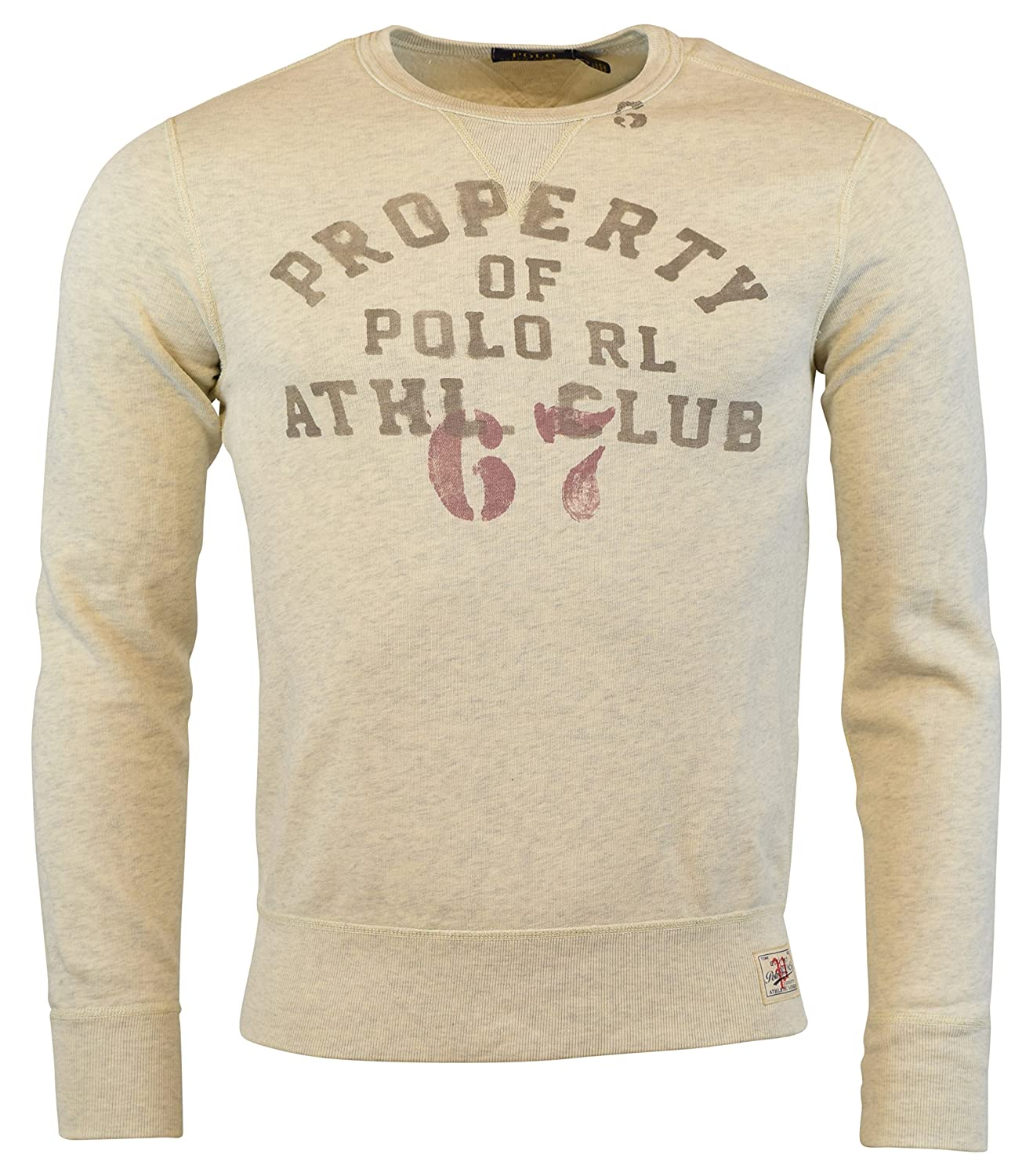 13b7ebb57871 Amazon.com  Polo Ralph Lauren Mens Athletic Club Gym Crewneck Sweatshirt  Heather Grey (XX-Large)  Clothing