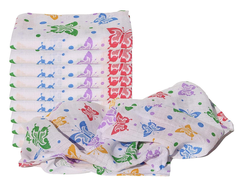 Flamingo Clevere Kids Mullt/ücher bunt bedruckt 10er Pack 100/% Baumwolle schadstoffgepr/üft
