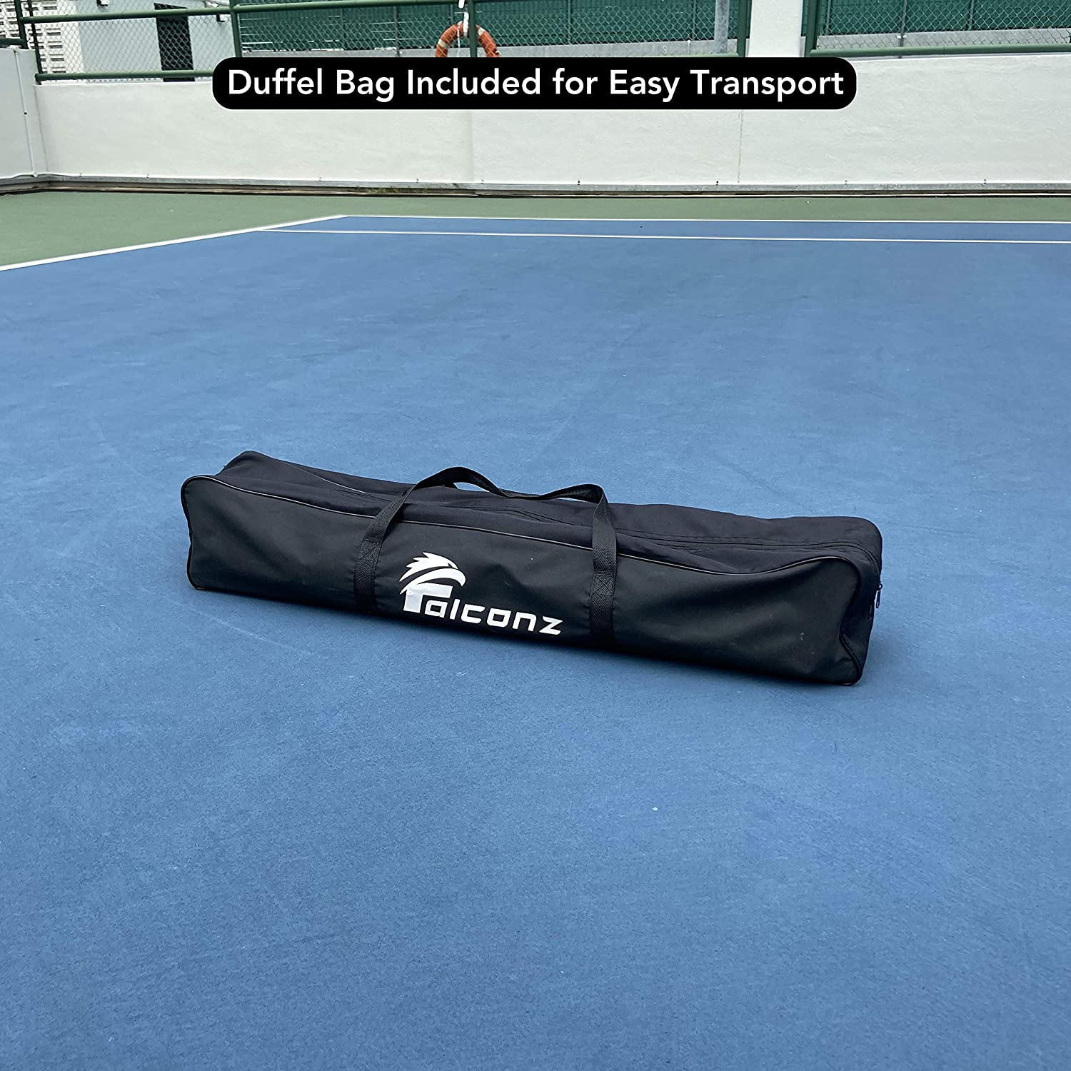 Portable 22 Feet Long Net with Steel Frame and PE Netting Falconz Regulation Size Pickleball Net for Outdoor and Indoor Carry Bag Included
