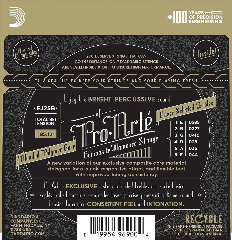 DAddario EJ25C Pro-Arte Clear Nylon Composite Flamenco Guitar Strings