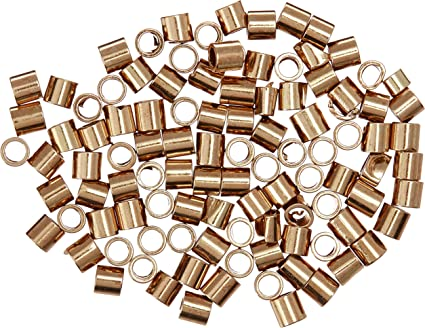 Crimp Beads Tubes Silver//gold//gunmetal 1.5 or 2 mm jewelry necklace craft