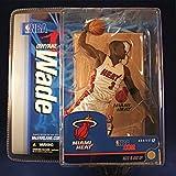 size 40 eda65 e6bdf DWYANE WADE   MIAMI HEAT   WHITE JERSEY   McFarlane 6 Inch NBA Series 12  Sports