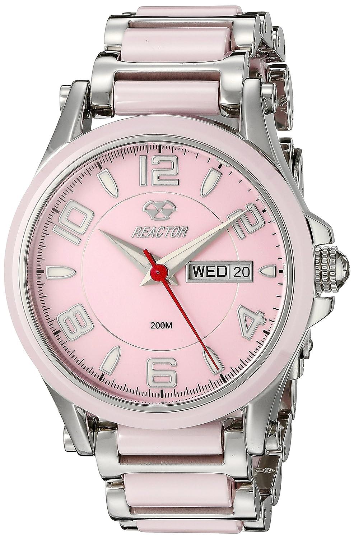 REACTOR Damen 69013 Kristall Analog Display Quarz Zweifarbige Armbanduhr