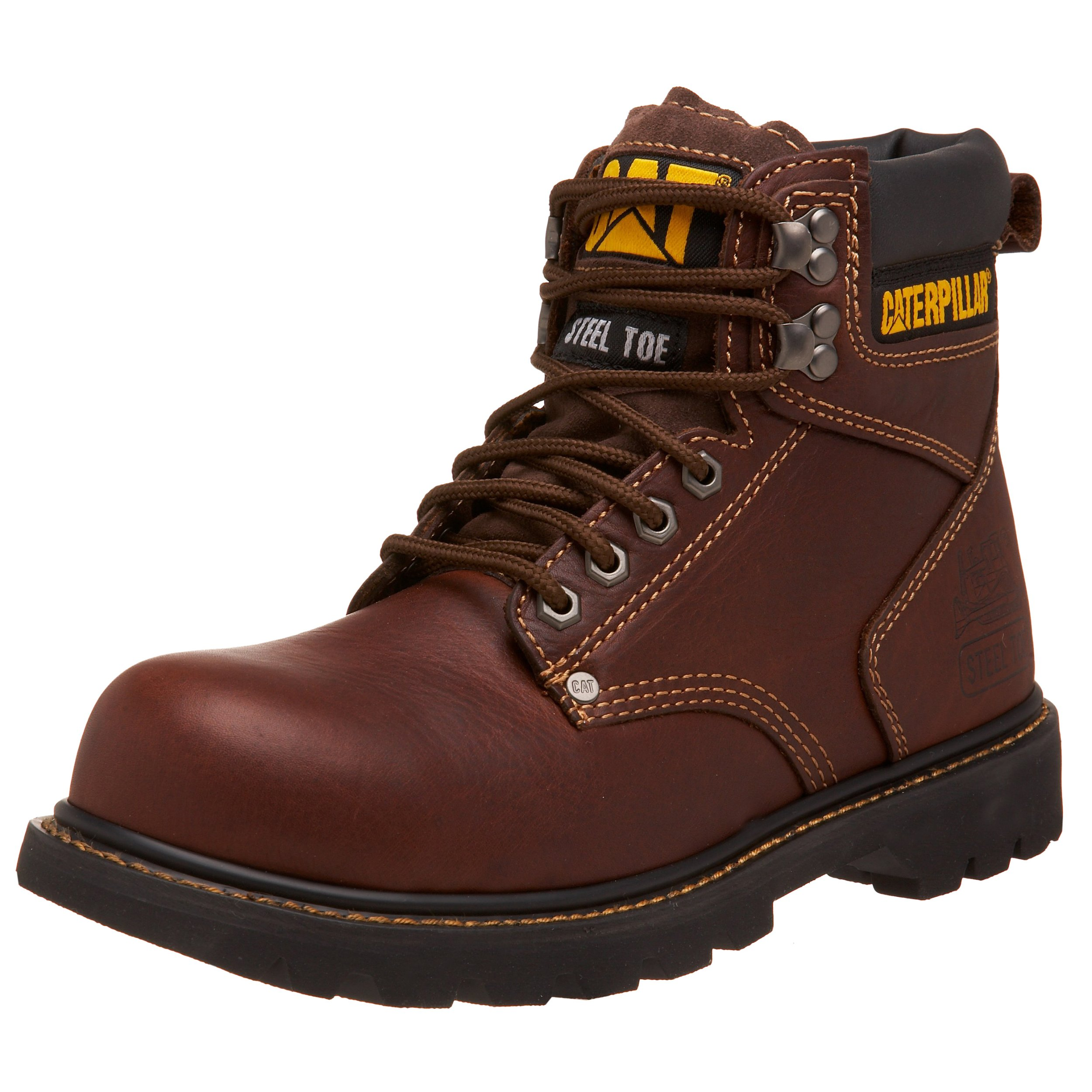 Caterpillar Men's 2nd Shift 6'' Steel Toe Boot,Tan,10 W US by Caterpillar